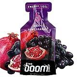 Boom Nutrition - Carb Boom Energy Gel - Fruit-Flavored Energy Gels - Workout Gel - Energy Gel for Cycling - Running Gel - Natural Energy Gel - Grape Pomegranate (24 Pack)