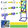Shooting Game Toy for Kids 3 Soft Foam Ball Popper Air Guns Toy with Standing Shooting Target and 48 Foam Balls, Indoor Outdoor Indoor Activity Family Games, Gift for Boys Girls Age 5 6 7 8 9 10+ from Lumiparty