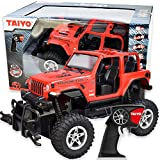 RC Truck Jeep Rubicon, 1:16 Scale Remote Control Car with Battery, Electric Charger, and Handset for Offroad, High Speed, Fast Hobby Action for Kids and Adults, 2.4Ghz