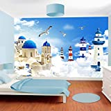 ZLYYH 3D Wallpaper Wandbild,Mediterranen Stil Cartoon