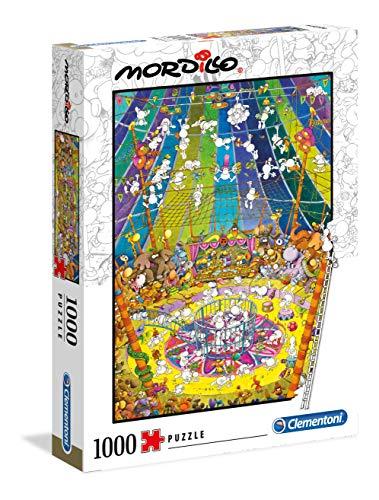Clementoni - 39536 - Mordillo Puzzle - The Show - 1000 Pezzi - Made In Italy - Puzzle Adulti