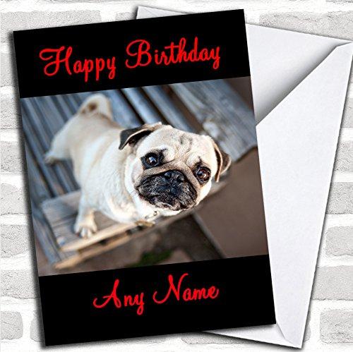 Leuke Pug Verjaardagskaart met envelop, kan volledig gepersonaliseerd worden, snel en gratis verzonden