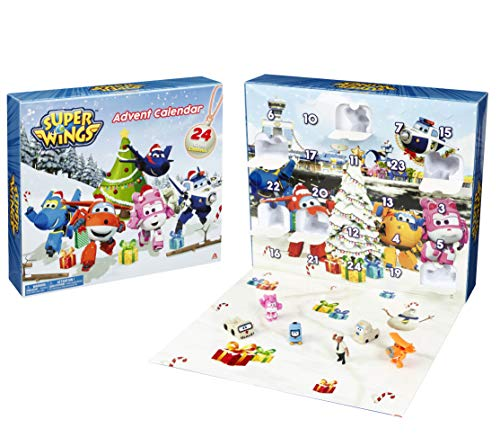 Waiky Germany GmbH EU730910-Advent Calendar inkl. 24 Figuren Superwings AK SWG Super Wings Adventskalender 2019, bunt