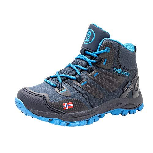 Trollkids Rondane Wanderschuh Hiker Mid, Marineblau/Mittelblau, Größe 33