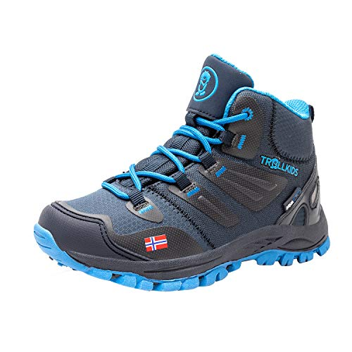 Trollkids Rondane Wanderschuh Hiker Mid, Marineblau/Mittelblau, Größe 30