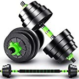 NHJDFB Professional Adjustable Dumbbells 2in1 Barbell Weights Set Home Weight with Connector, Lifting Dumbells for Body Workout Home Gym Fitness Dumbbells Set for Men and Women,10kg