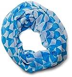 styleBREAKER Bayerischer Rauten Muster Loop Schlauchschal/Dirndl und Trachten Tuch (Blau-Weiß)