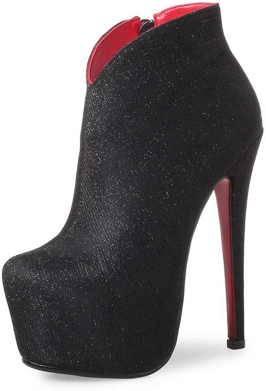 1TO9 Womens Spikes Stilettos Platform Urethane Boots MNS03298
