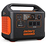 Jackery Portable Power Station Explorer 1500, 1534Wh Portable Generator with 3x110V/1800W AC Outlets, Solar Mobile Lithium Battery Pack for Outdoor RV/Van Camping, Overlanding