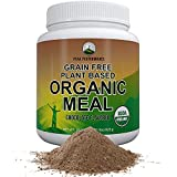 Organic Vegan Paleo Meal Replacement Powder. Grain-Free Complete Raw Plant Based Meal With 20g Plant Protein + Organic Greens And Reds (Chocolate Flavor)