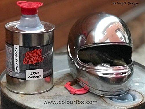 Custom Creative Chromfarbe, 90 % Chromstahl 1 Litro aluminium