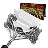 QIEGL BBQ Grill Brush Bristle Free and Scraper, Safe Cleaning Brush for Gas/Charcoal...