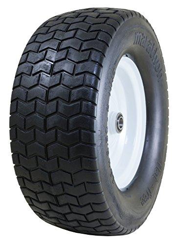 """Marathon 16x6.50-8"""" Flat Free Tire on Wheel, 3"""" Hub, 3/4"""" Bushings"""