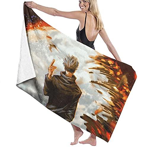 xiangli Sat-oru G-o-jo Toalla de playa súper suave absorbente toalla de piscina adecuada para niños y adultos juegos al aire libre y viajes 32 x 52 pulgadas