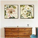 LIPENGYU Toile Peinture Moderne Belle Fleur Bouquet Minimalisme Affiches Imprimer Image Salon Décor-50x50 cm2 pcs Pas de Cadre