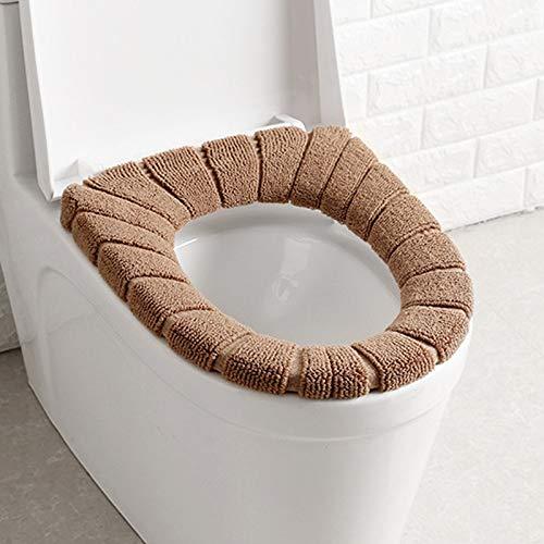 Hvoz WC-stoelhoezen kussenslopen, toiletzitkussen, afwasbaar, zacht warmer, mat voor toiletbril