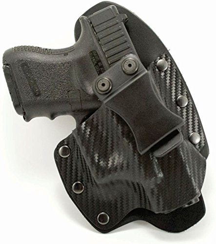 NT Hybrid IWB Black Carbon Fiber & Leather Holster (Right-Hand, Glock 36 with Rail)