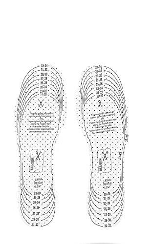 Kaps Frotte Schuheinlagen für Kinder - Zuschneidbare Einlegesohlen aus Frotte (Größe 19-34)
