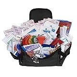 ASA Techmed Small First Responder EMT EMS Trauma Bag Stocked First Aid EMS First Responder Fully Stocked Trauma First Aid Kit (Black)