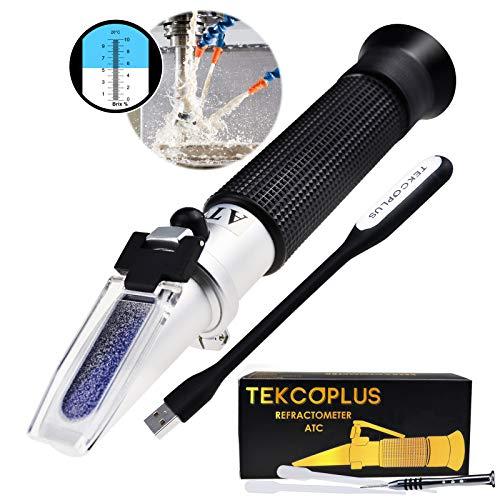Brix Refraktometer 0-10% Brix Prüfung Synthetischer Bearbeitung Kühlmittel, LED-Licht & Pipetten