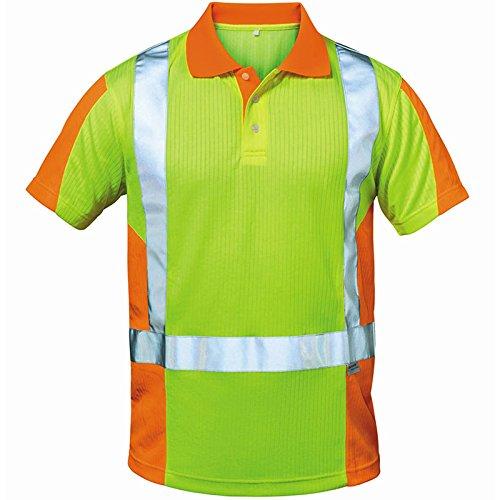 Elysee 22725-2XL Warnschutz Polo-Shirt Zwolle Größe 2XL in gelb/orange