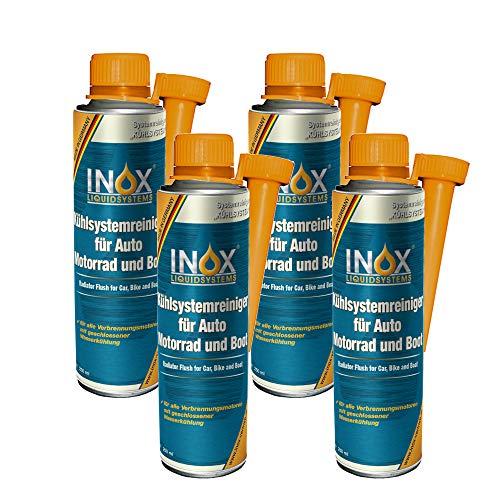 INOX® Additif nettoyant pour système de Refroidissement, Refroidisseur de Protection pour Voiture, Moteur et Bateau - 4 x 250 ML