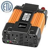 Ampeak 400W Power Inverter 12V to 110V AC Car Inverter with 2.1A USB Car Charger