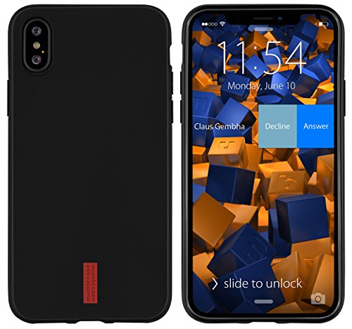 mumbi Hülle kompatibel mit iPhone X / XS Handy Hülle Handyhülle, dunkel