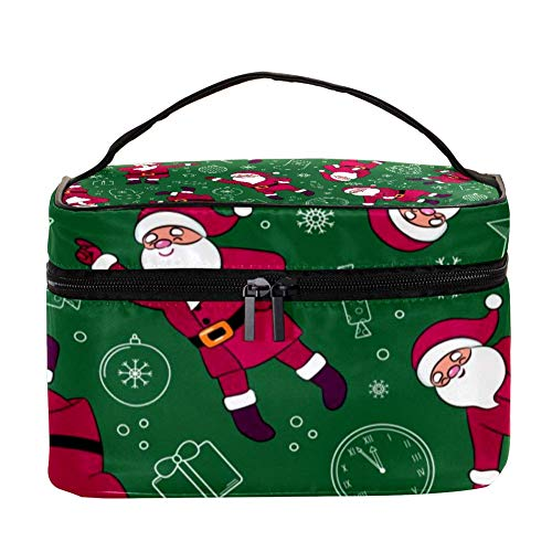 Divertido bolso de maquillaje con diseño de Papá Noel, diseño de bailarina...