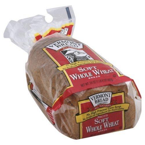 Vermont Bread Company Soft Whole Wheat Bread 24 Oz 2 Packs by Vermont Bread Company
