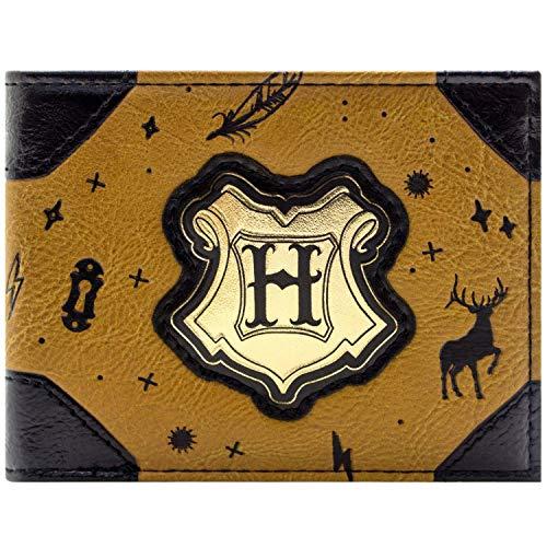 Harry Potter Stag Patronus Symbol Brown ID & Card Bi-Fold Wallet