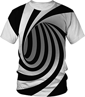Auremore 3D Print T-Shirt Fashion Graphic Tee Crewneck Short Sleeve T-Shirts for Men Women