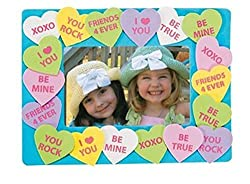 Easy Valentine's Day Crafts and Ideas for Girl Scout Daisies-Conversation Hearts photo frame comes with 12 individually packaged kits