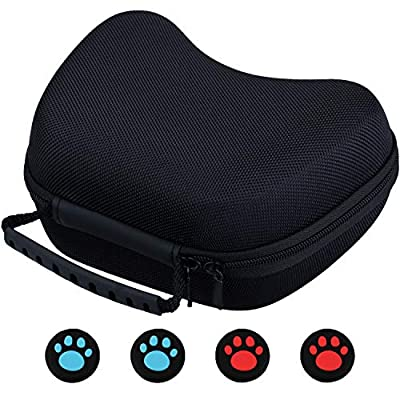9CDeer EVA Universal Carrying Travel Protective Bag Pouch Hard Case for PS4, Xbox One, Switch Pro, PS3, Xbox 360 Controller or Any Similar Size Controller with Small Accessories Pocket Inside + Thumb