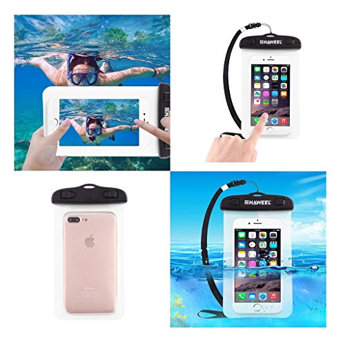 DFVmobile - Universal Protective Beach Case 30M Underwater Waterproof Bag for THL T200 TD (2013) - Transparent