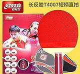 DHS Ping Pong Table Tennis Racket Paddle Bat 4 Star Penhold Short Handle 4007 Wish LANDSON