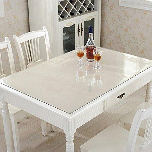 テーブルクロス PVC製 テーブルマット デスクマット テーブル クロス 長方形 防水 撥水 耐久 汚れつきにくい 透明1mm/1.5mm/2mm (厚さ1.5mm, 75*135cm)