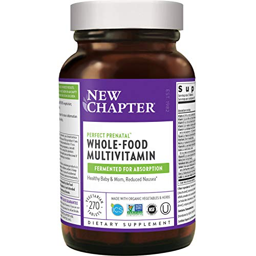 New Chapter Perfect Prenatal Vitamins, 270ct, Organic Prenatal Vitamins, Non-GMO...