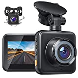 APEMAN Dual Lens Dash Cam C420D for Cars Front and Rear with Night Vision, 170°Wide Angle Driving Recorder with G-Sensor, Parking Monitor, Loop Recording