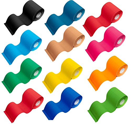 #DoYourFitness® Premium Kinesiologie Tape | Länge 5m - Breite wählbar zwischen 2,5cm bis 10cm | Stückzahl 1x 3X 6X 12x - wasserfest, hautfreundlich & dehnbar : 7,5cm Petrol