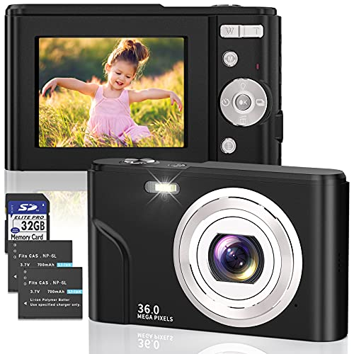 Digitalkamera 1080P FHD 36MP Foto...
