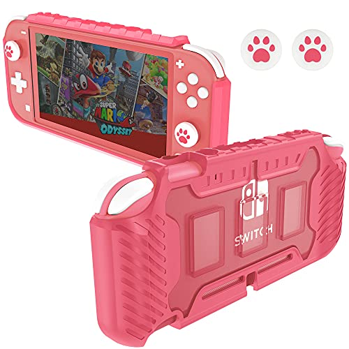 KIWIHOME Protective Case for Nintendo Switch Lite, TPU Grip Case Accessories for Switch Lite Console 2019 with Thumb Grip Caps Nintendo Switch Lite Case for Girls (Corla)