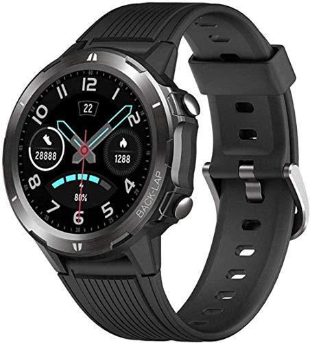 Reloj Inteligente 1 3' Pantalla a Color Pulsera Inteligente Recordatorio De Información Multi-Función Bluetooth Reloj Deportivo-Negro