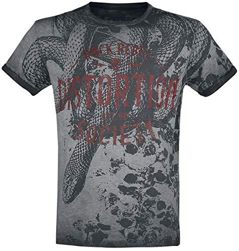 Rock Rebel by EMP Rebel Soul Hombre Camiseta Gris, Labelpatch Regular