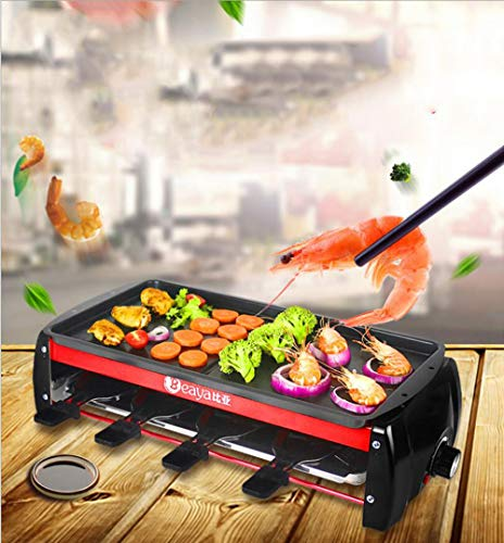 YAMERIJIA elektrische oven Koreaanse rookloze grillpan, papiergrillmachine, grillstand, non-stick