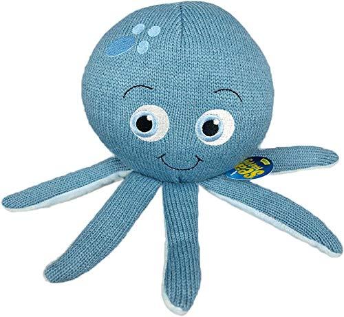 Oktopus SeaHappy Luna Kuscheltier 25x15cm blau | Meer | Spielzeug | Geschenk | Kinder | Mädchen | Jungen | Maritim | Ozean | Plüschtier | Tintenfisch