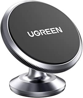 UGREEN Car Phone Holder Magnetic Dashboard Mobile Mount 2 Metal Plates Compatible with iPhone 12 mini/12/12 pro/12 pro max...