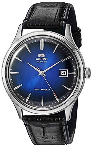 Orient 'Bambino Version IV' Japanese Automatic Stainless Steel and Leather Dress Watch