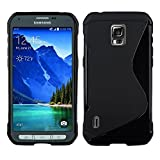 Black case for Samsung Galaxy S5 Active TPU Gel Case Cover [Anti Slip] Supports Premium High Definition Anti-Scratch Screen Protector; Best Design with; Coolest Soft Silicone Rubber Case Cover for Galaxy S5 Active (Release Date) Supports Samsung S5 Active Devices From Verizon, AT&T, Sprint, and T-Mobile