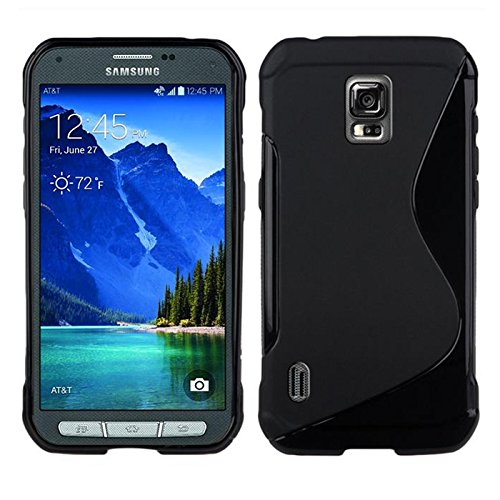 Black case for Samsung Galaxy S5 Active TPU Gel Case Cover [Anti Slip]...